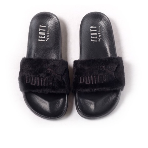 Puma Shoes | Black Fenty Slides | Poshmark